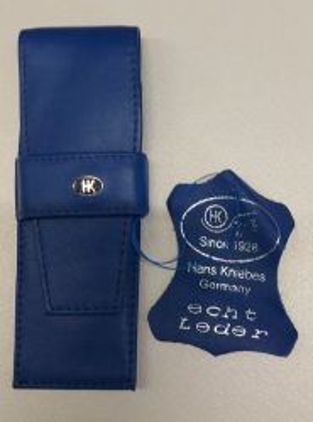 HK pen wallet 2 Germany - Кожен несесер за 2 пишещи средства ROYAL BLUE