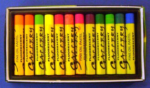 GALLERY FLUO - Маслен пастел 12 цв. флуоресцентни