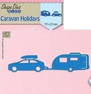 "AUTO  DIES ""Holidays:caravan"" (111x31mm)   - Фигурална щанца за рязане и релеф SDB046"