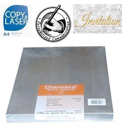 DIAMANT EXTRA SPEZIAL 92g A3 - Бял транспарентен оризов паус 100 листа