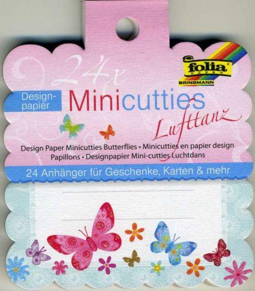 FOLIA TAGS - 24бр дизайнерски тагове / етикети с брокат 10 см.