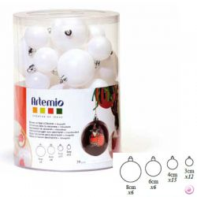 Artemio - Бели топки кутия  микс 39 бр
