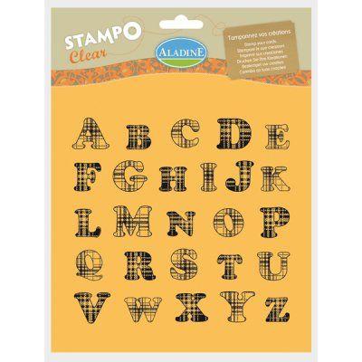 ALPAHABET by ALADINE STAMPS France - Дизайнерски печати  20Х20см