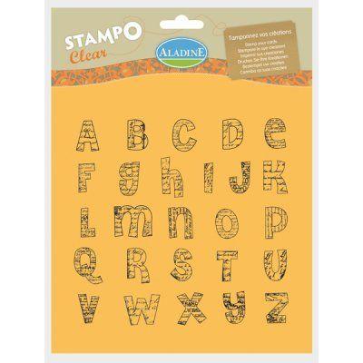 ALPHABET by ALADINE STAMPS France - Дизайнерски печати  20Х20